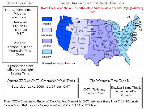 Tina Gleisner Map of US Time Zones